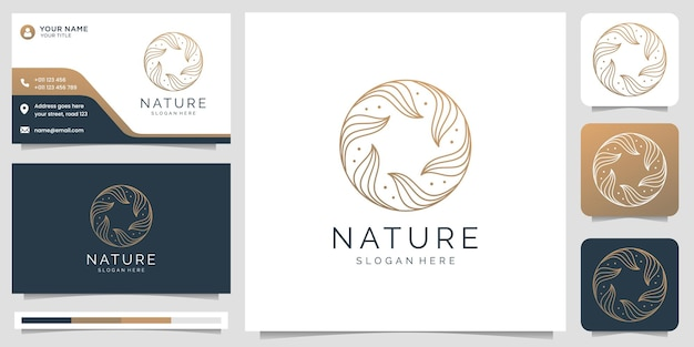 Yoga and spa logo and business card template