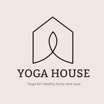 Yoga studio logo template, health & wellness business branding design vector