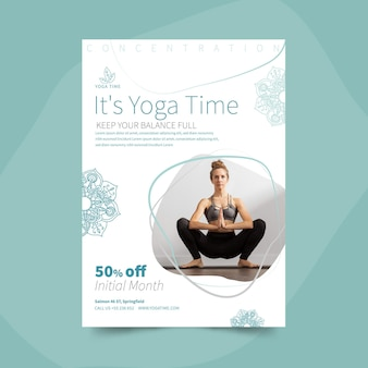 Yoga vertical flyer template