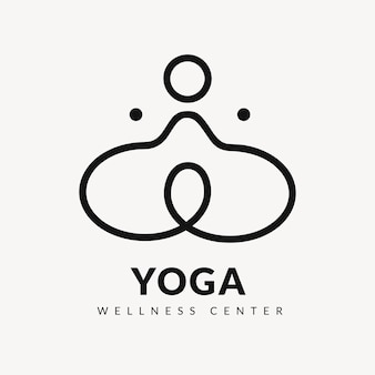 Yoga wellness center logo template, creative modern design vector