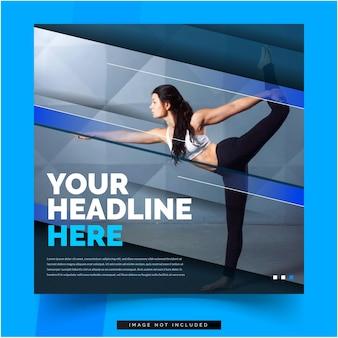 Yoga woman banner social media template