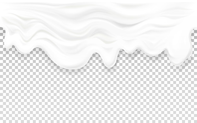 Yogurt flowing illustration of 3d milk or sour cream liquid wave