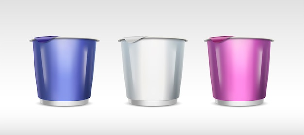 Yogurt or ice cream container set, food cup