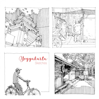 Yogyakarta vacation sketches