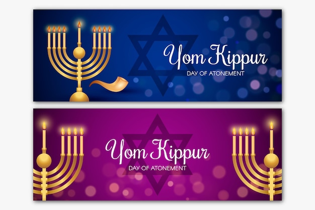 Yom kippur banner collection