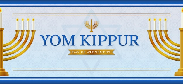 Yom kippur banner with candles