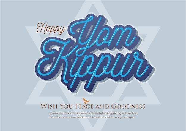 Yom kippur greeting illustration