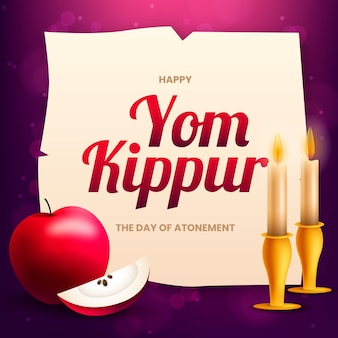 Yom kippur illustration in realistic style