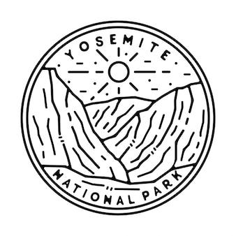 Yosemite naational park monoline outdoor design