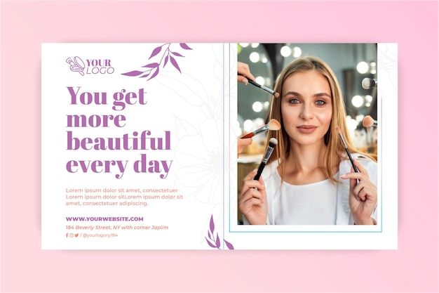 You are beautiful make-up banner