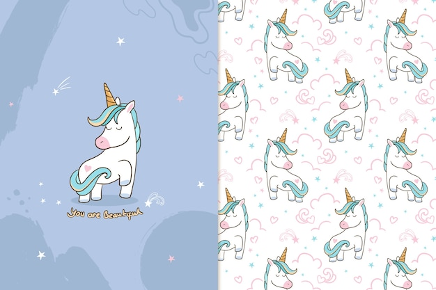You are beautiful unicorn  pattern