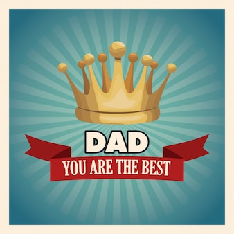You are the best dad greeting card with gold crown