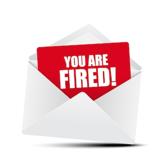 You are fired card in envelope