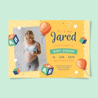 You are invited to baby shower for boy and mother