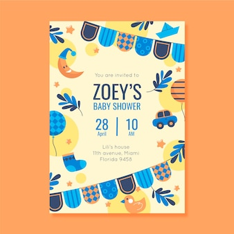 You are invited to baby shower for boy