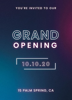 You'are invited to our grand opening invitation card template