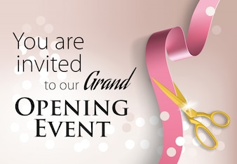 You are invited to our grand opening event lettering