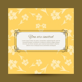 You are invited yellow card design