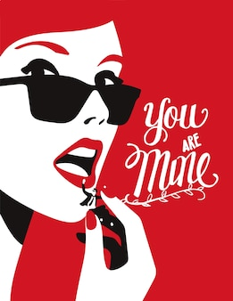 You are mine illustration