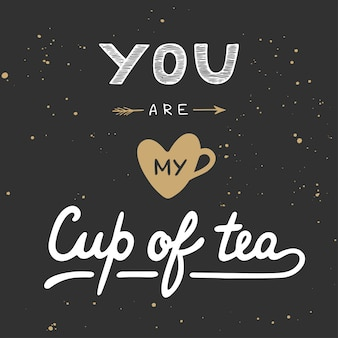 You are my cup of tea in vintage style.