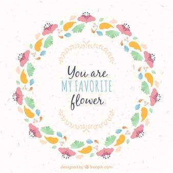 Ты мой любимый цветок, цветочные кадр