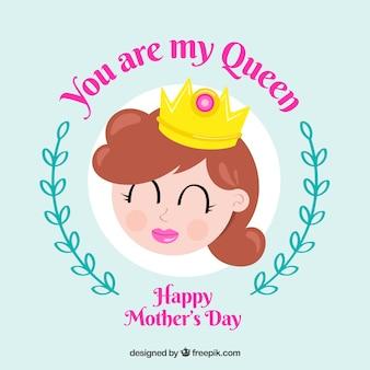 당신은 어머니의 날을위한 나의 여왕 배경입니다