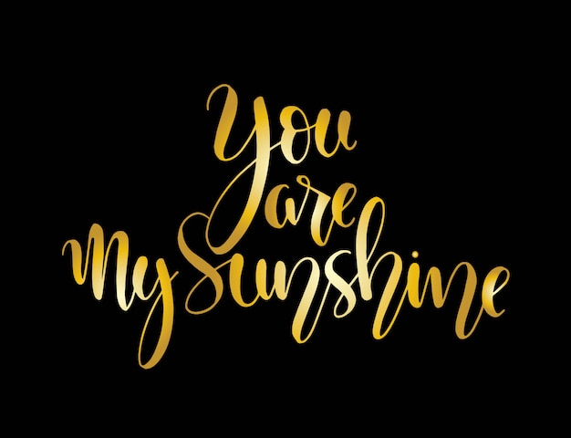 You are my sunshine. positive quote handwritten