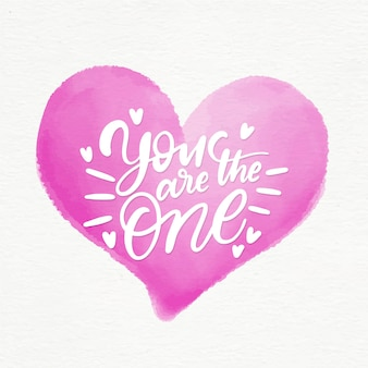 You are the one lettering