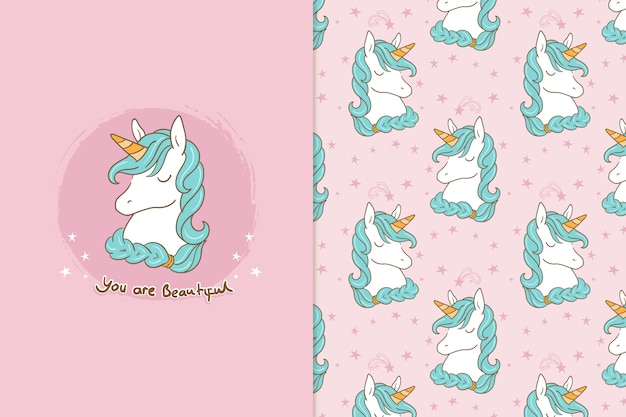 You are special adorable unicorn  pattern
