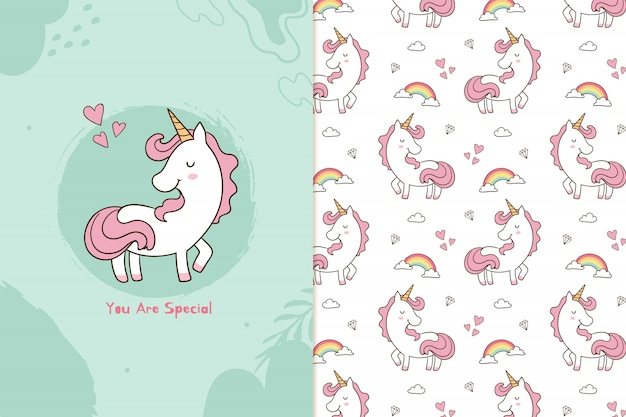 You are special unicorn pattern