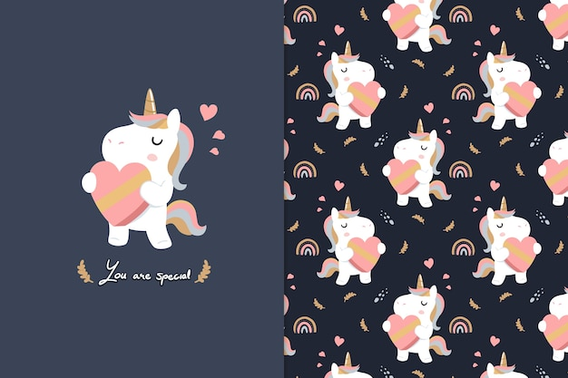 You are special  unicorn seamless pattern