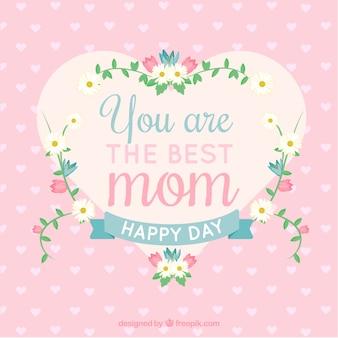 당신은 최고의 엄마 배경입니다