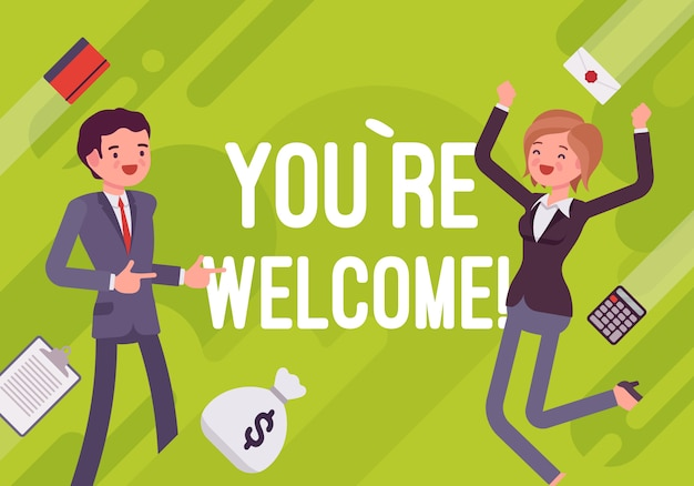 You are welcome. business motivation illustration