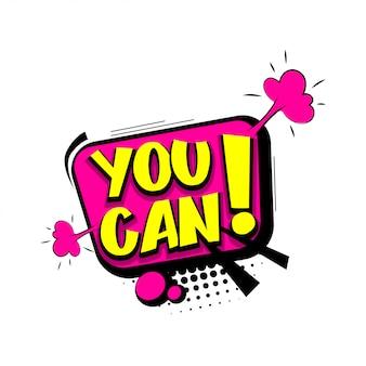 You can do it comic text pop art