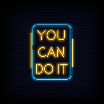 You can do it neon sign text vector