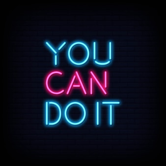 You can do it neon text