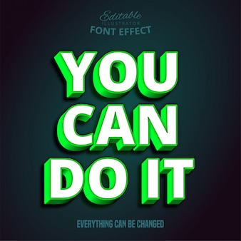 You can do it text, editable font effect