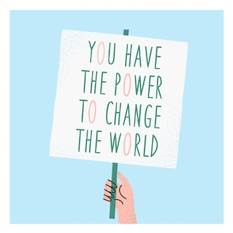 You have the power to change the world eco postcard.