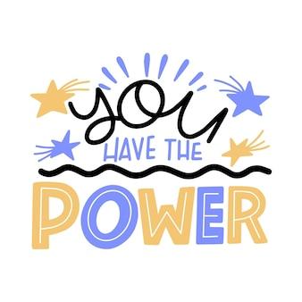 Hai la scritta power