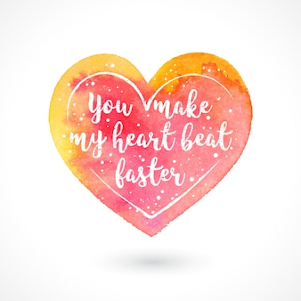 You make make my heart beat faster