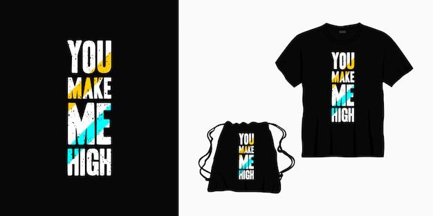 Вы делаете меня дизайн надписи высокой типографикой для футболки, сумки или товаров