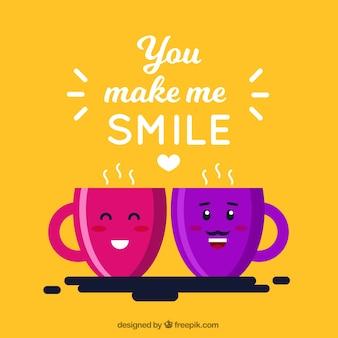 You make me smile background