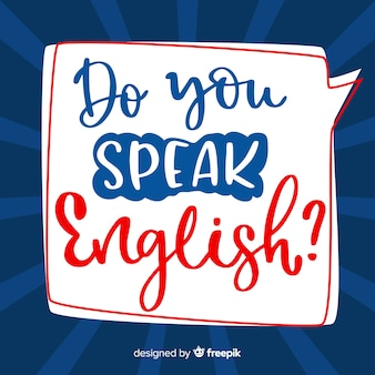 Do you speak english background