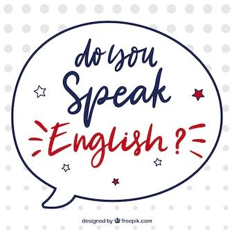 Do you speak english lettering background