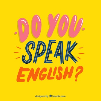 Do you speak english question with flat design