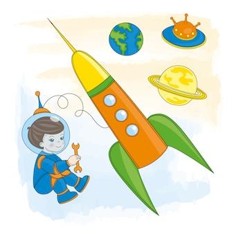 若い宇宙飛行士