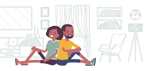 Young black family dreaming of own house