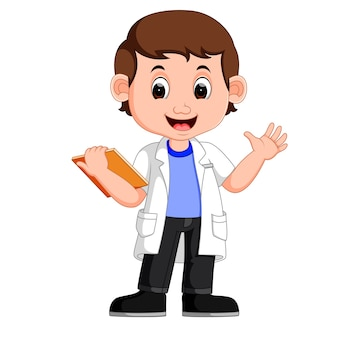 若い少年科学者 Premiumベクター