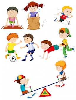 Young children and activity