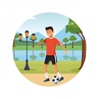 Young city people cartoon icon